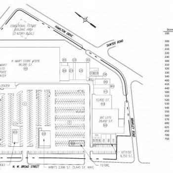 Plan of mall Broad Street Centre