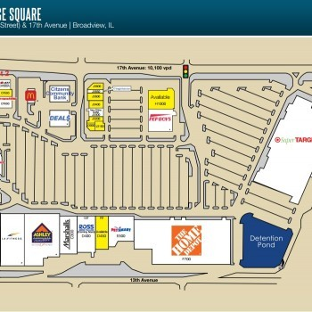 Plan of mall Broadview Village Square