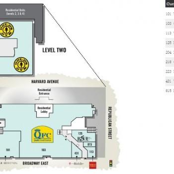 Plan of mall Broadway Market