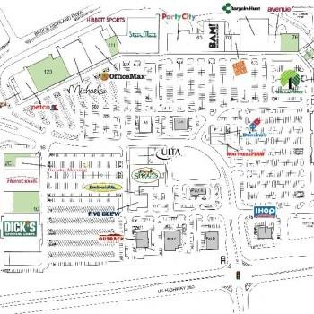 Plan of mall Brook Highland Plaza