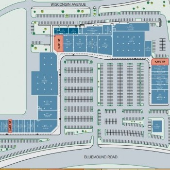 Plan of mall Brookfield Fashion Center