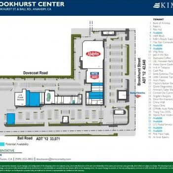 Plan of mall Brookhurst Shopping Center