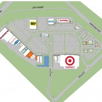Plan of mall Brookside Marketplace