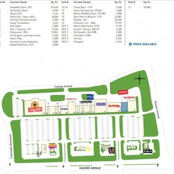 Plan of mall Brookside Plaza