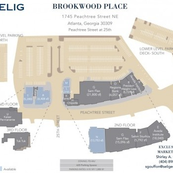 Plan of mall Brookwood Place on Peachtree