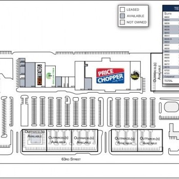 Plan of mall Brywood Center