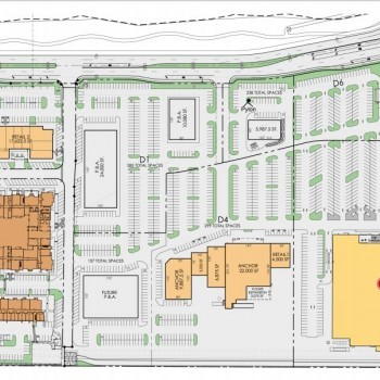 Plan of mall Bulverde Marketplace