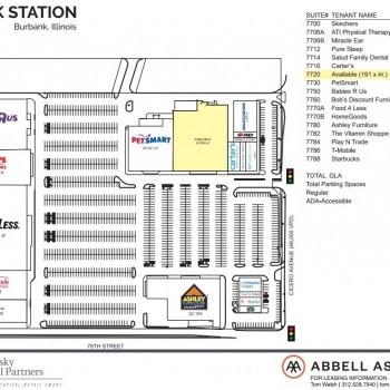 Plan of mall Burbank Station
