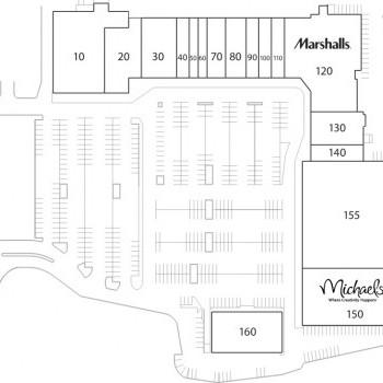Plan of mall Burlington Crossroads