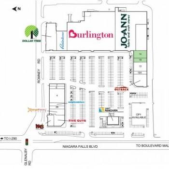 Plan of mall Burlington Plaza