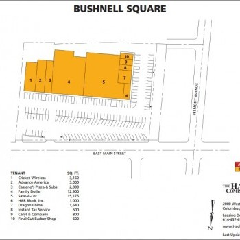 Plan of mall Bushnell Center