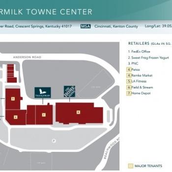 Plan of mall Buttermilk Towne Center