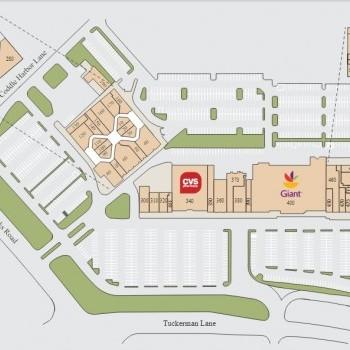 Plan of mall Cabin John Mall & Shopping Center