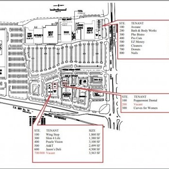 Plan of mall Cameron Crossing