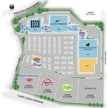 Plan of mall Camp Creek Marketplace II
