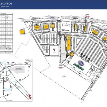 Plan of mall Camp Forbing Marketplace