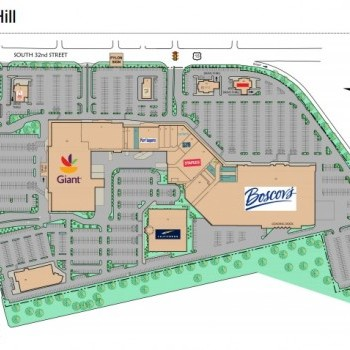 Plan of mall Camp Hill Shopping Mall