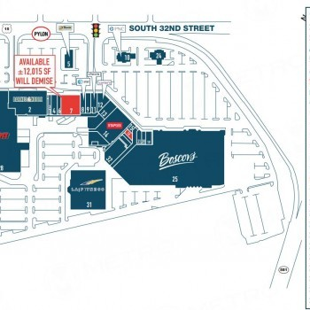Plan of mall Camp Hill Shopping Center
