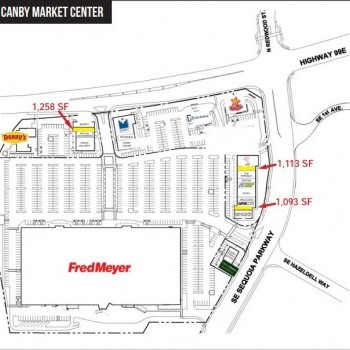 Plan of mall Canby Market Center