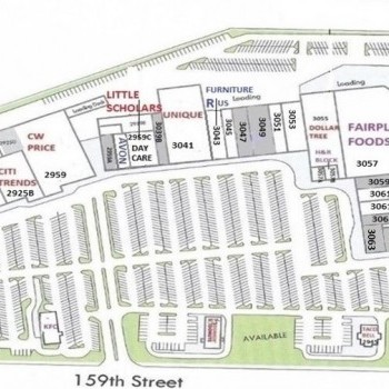 Plan of mall Canterbury Plaza