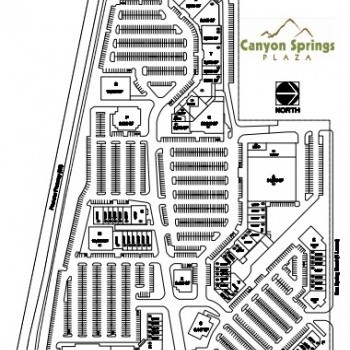Plan of mall Canyon Springs Plaza