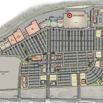 Plan of mall Canyon Trails Towne Center
