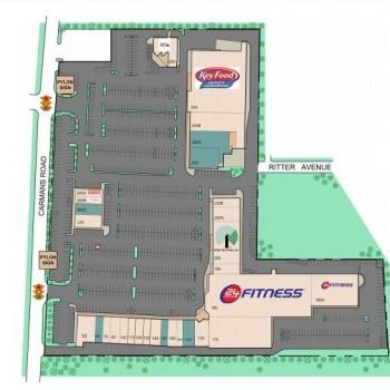 Plan of mall Carman's Plaza