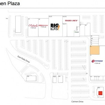 Plan of mall Carmen Plaza