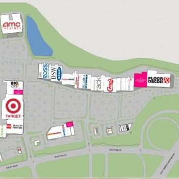 Plan of mall Carolina Pavilion