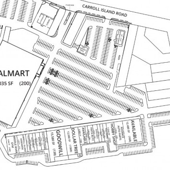 Plan of mall Carroll Island