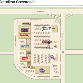 Plan of mall Carrollton Crossroads