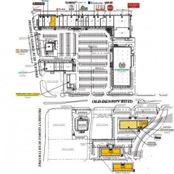 Plan of mall Carrollton Town Center