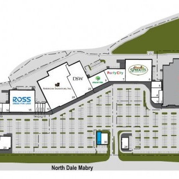 Plan of mall Carrollwood Commons