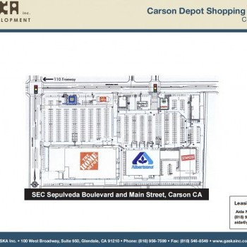 Plan of mall Carson Depot