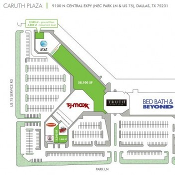 Plan of mall Caruth Plaza