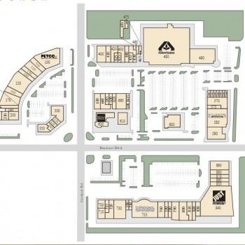 Plan of mall Casa Linda Plaza