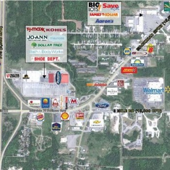 Plan of mall Cascade Crossing