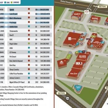 Plan of mall Cascade Village Shopping Center
