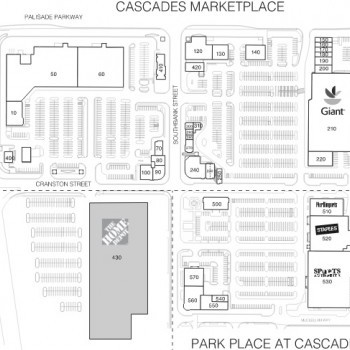 Plan of mall Cascades Marketplace