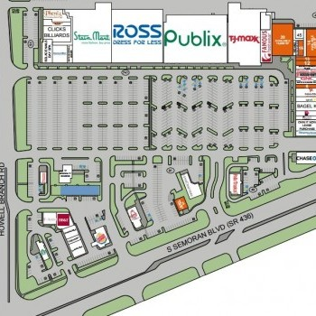 Plan of mall Casselberry Commons