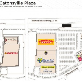 Plan of mall Catonsville Plaza