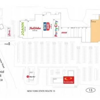 Plan of mall Cayuga Mall
