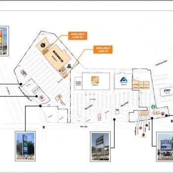 Plan of mall Cedar Hill Crossing