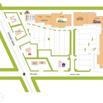 Plan of mall Cedar Village Plaza