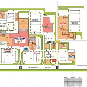Plan of mall Cedarbrook Plaza