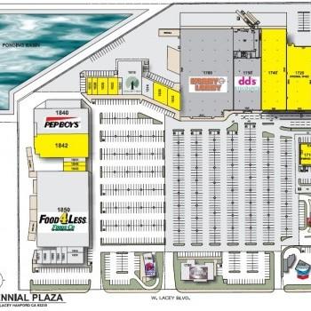 Plan of mall Centennial Plaza