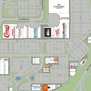 Plan of mall Centennial Promenade