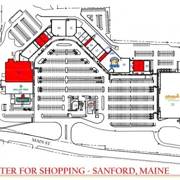 Plan of mall Center for Shopping