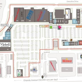 Plan of mall Center of Winter Park