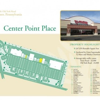 Plan of mall Center Point Place